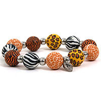 Artisan Beads Stretcharmband Safari