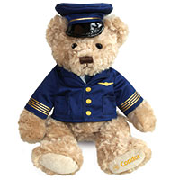 Teddybär in Condor Uniform Pilot