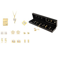 PIERRE CARDIN Set mit vergoldeten Ohrringen