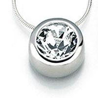 Swarovski Silberkette, weiss