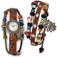 Set aus Hippie Chic Armband und - Uhr