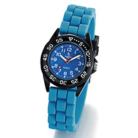 crystal blue kids - Kinderuhr -Youngster- Hellblau/Schwarz