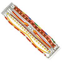Textilarmband Brazil Orange