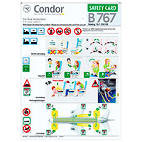 Condor Safety Card B767-300ER
