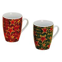 Porzellan-Becher mit zauberhaftem Weihnachts-Dekor