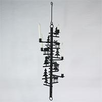 Weihnachtlicher Metall-Kerzenleuchter mit Rentieren zum Aufhängen