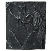 Künstlerisches Reliefbild Liebespaar