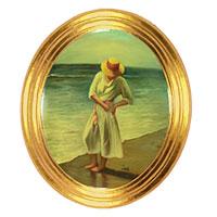 Frau am Meer - ein hinreißend schönes Bild mit bezaubernder Aura!