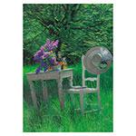 3D-Karte Tisch und Stuhl im Garten
