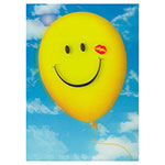 3D-Karte Smily-Luftballon