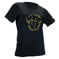 perro negro T-Shirt -Inside-