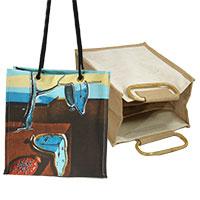 Taschenset: Künstlertasche Salvadore Dali & Bottle Bag beige