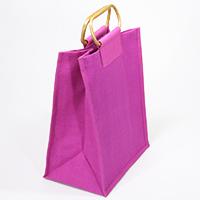Jute-Flaschentasche pink