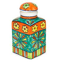 Handbemalte Gewürzflasche -Flower- 04