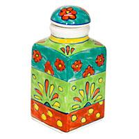 Handbemalte Gewürzflasche -Flower- 05