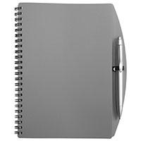 DIN A5-Notizbuch -Loop- mit Kugelschreiber - grau
