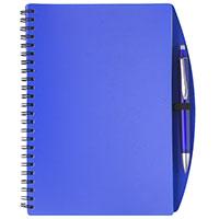 DIN A5-Notizbuch -Loop- mit Kugelschreiber - blau