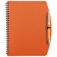 DIN A5-Notizbuch -Loop- mit Kugelschreiber - orange