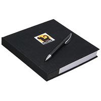 perro negro Notizblock mit Kugelschreiber