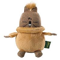 HUNTER Hundespielzeug T-Neck Eichhörnchen braun