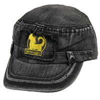 Military-Cap - perro negro - black