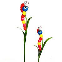 Gartenstecker Raupe - Finchen - in zwei Größen