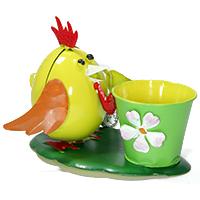 Pflanzentopf Huhn gelb