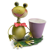 Pflanzentopf Frosch Frau