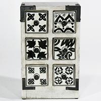 Minikommode mit 6 kleinen Schubladen