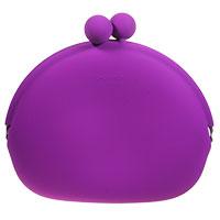 Ultra-stylische Minihandtasche POCHI-MON in lila mit abnehmbarer Kette