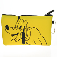 Reißverschlussbörse Mickey & friends - gelb -Pluto-