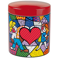 Romero Britto Porzellandose Heart Kids