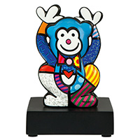 ROMERO BRITTO Porzellanfigur -Blue Monkey-