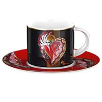 Kaffeetasse -Herzdame- - Künstleredition Gigi Banini