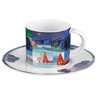 Kaffeetasse -Winter- - Künstleredition Ton Schulten