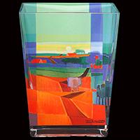 Glasvase -Entlang des Ufers- - Künstleredition Ton Schulten