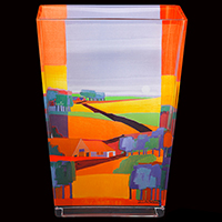 Glasvase -Goldgelbe Landschaft- - Künstleredition Ton Schulten