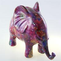 Spardose Elefant - violett