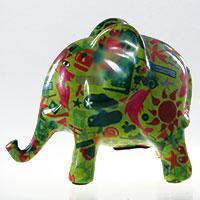 Spardose Elefant - hellgrün