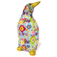 Spardose Pinguin - hellblau