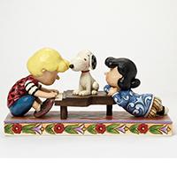 Schroeder mit Lucy & Snoopy