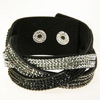 Schwarzes geflochtenenes Armband -Tripple-