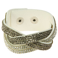 Weißes geflochtenenes Armband - Tripple -