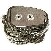 Graues geflochtenenes Armband -Tripple-