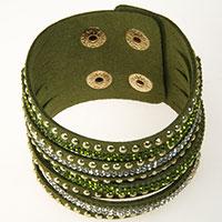 Olivfarbenes Armband -Sissy-