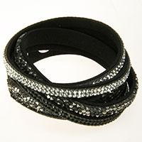 Schwarzes Schmuckband -Mosaik-