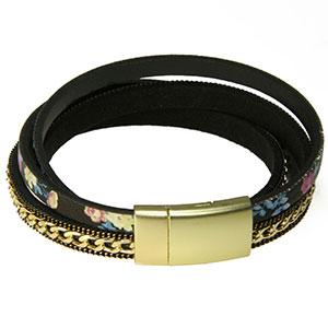 Schwarzbuntes Armband -Asia-