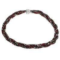 Halskette -Red and Silver-
