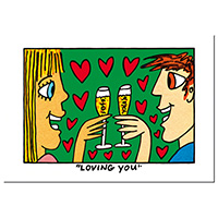 James Rizzi Postkarte -Loving you-
