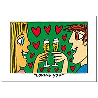 James Rizzi Postkarte -Loving you-